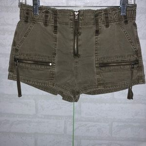 Women's Free people front zip shorts sz 0